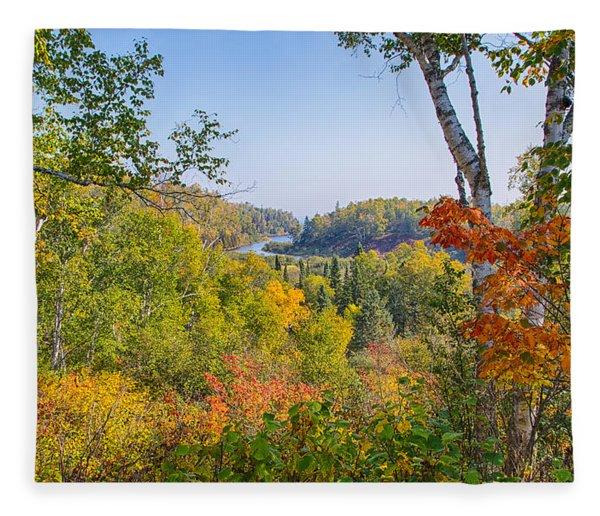 Fall In Gooseberry State Park Fleece Blanket