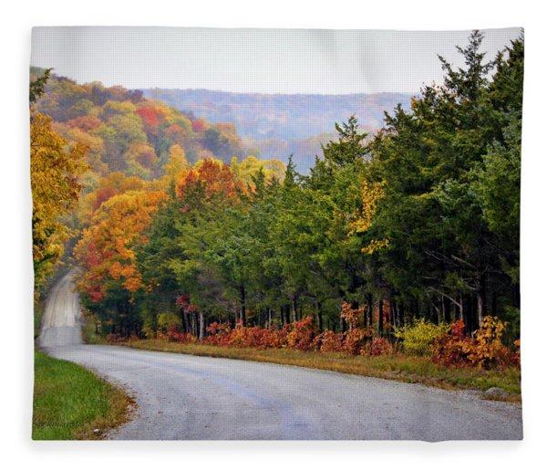 Fall On Fox Hollow Road Fleece Blanket