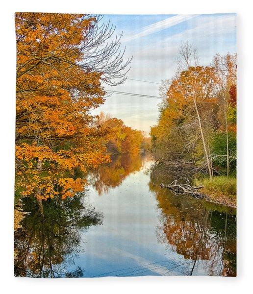 Fall On The Red Cedar  Fleece Blanket