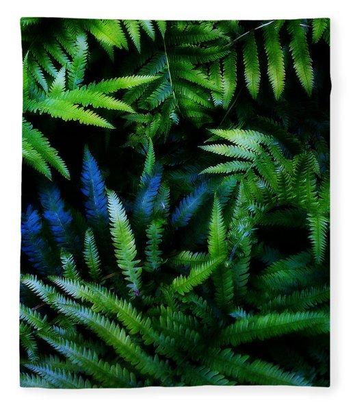 Fleece Blanket featuring the digital art Ferns by Matt Lindley