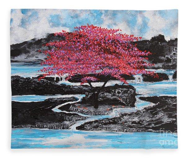 Finding Beauty In Solitude Fleece Blanket