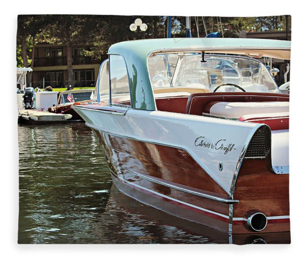 Finned Chris Craft Fleece Blanket