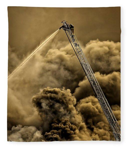Firefighter-heat Of The Battle Fleece Blanket