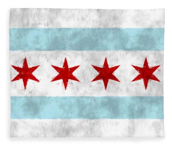 Flag Of Chicago Fleece Blanket