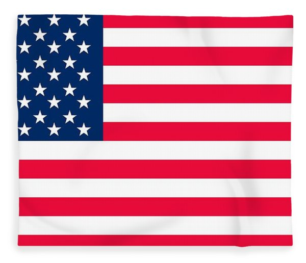 Flag Of The United States Of America Fleece Blanket