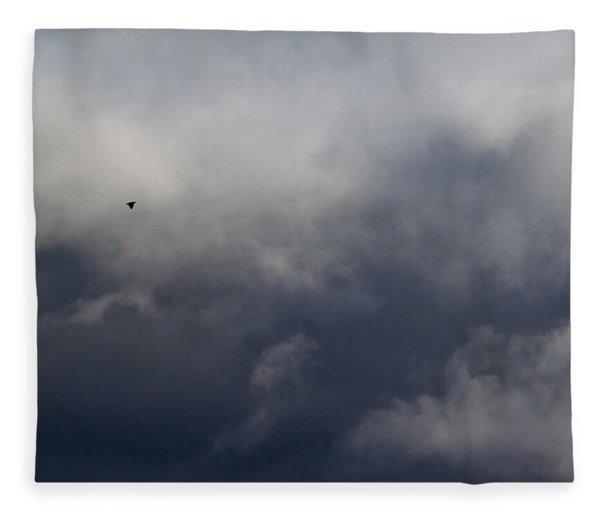 Fleeing The Storm   Fleece Blanket