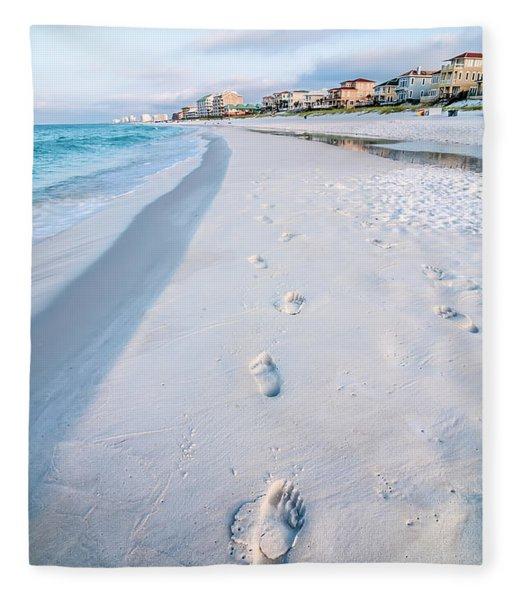 Fleece Blanket featuring the photograph Florida Beach Scene by Alex Grichenko