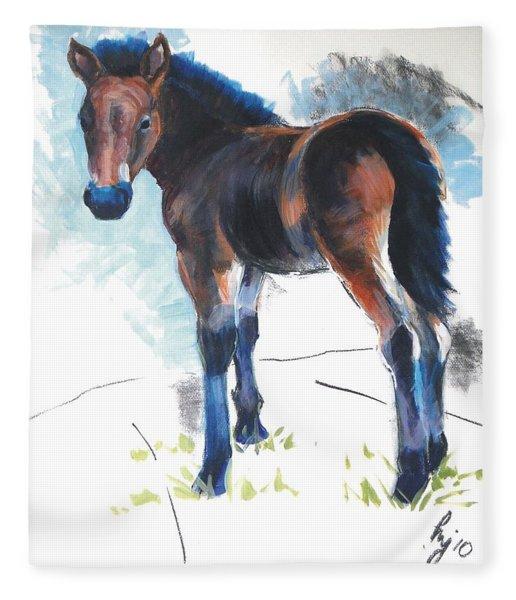 Foal Painting Fleece Blanket