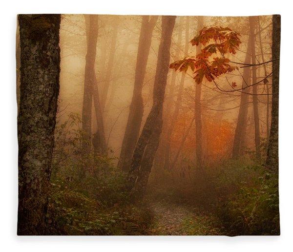 Foggy Autumn Fleece Blanket