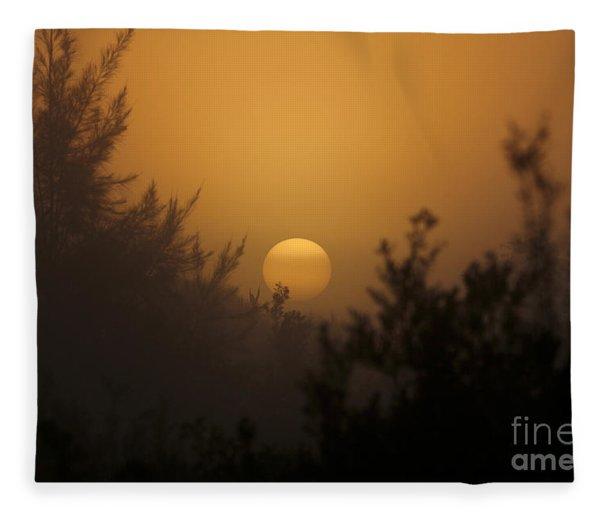 Foggy Sunrise Fleece Blanket