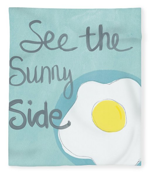 Food- Kitchen Art- Eggs- Sunny Side Up Fleece Blanket