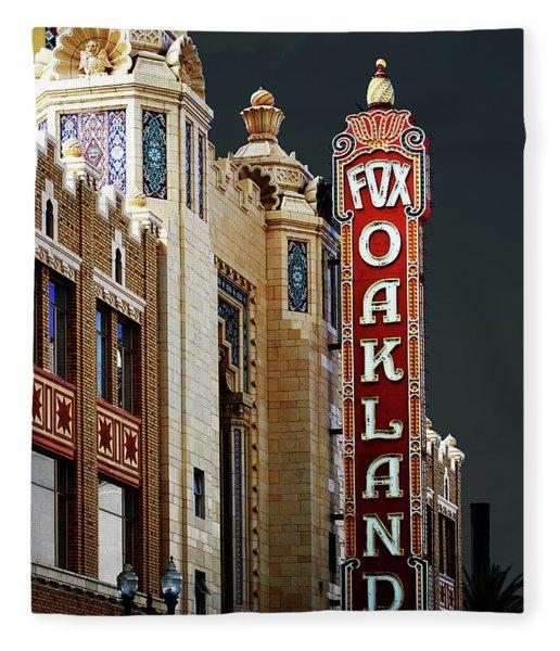 Fox Theater . Oakland California Fleece Blanket