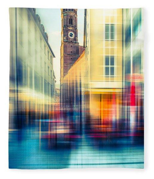 Frauenkirche - Munich V - Vintage Fleece Blanket