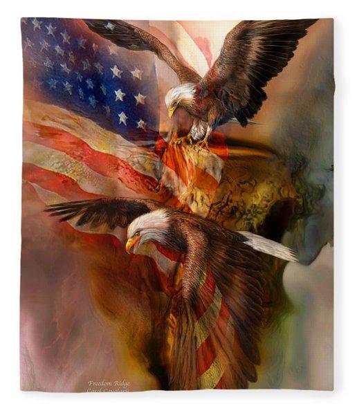 Freedom Ridge Fleece Blanket