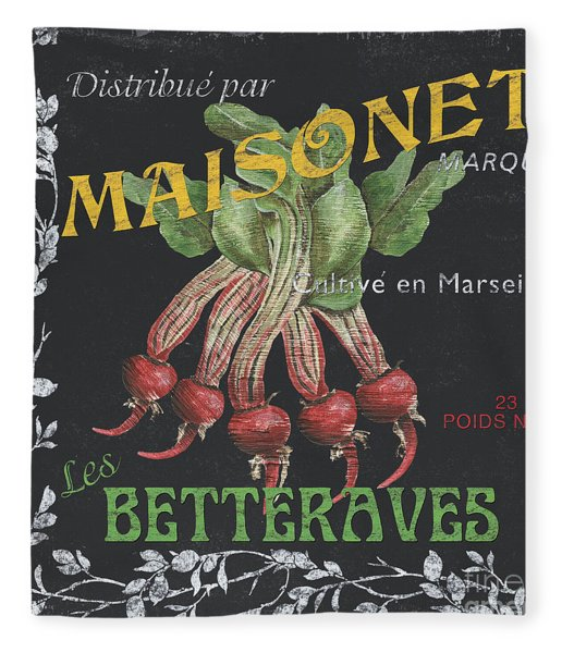 French Veggie Labels 2 Fleece Blanket