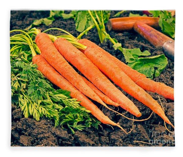 Fresh Carrots From The Garden Fleece Blanket