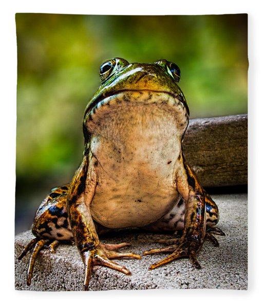 Frog Prince Or So He Thinks Fleece Blanket