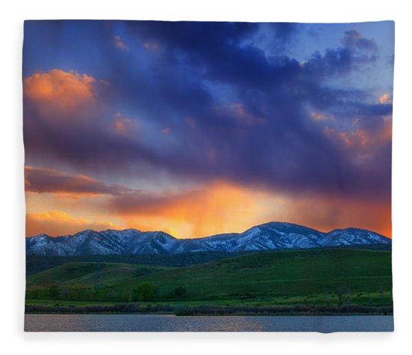 Front Range Light Show Fleece Blanket