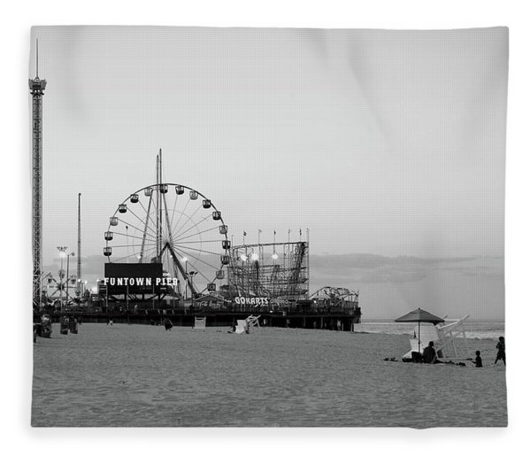 Funtown Pier - Jersey Shore Fleece Blanket