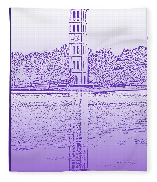 Furman Bell Tower Fleece Blanket