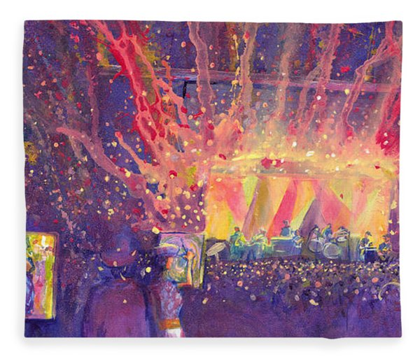 Galactic At Arise Music Festival Fleece Blanket