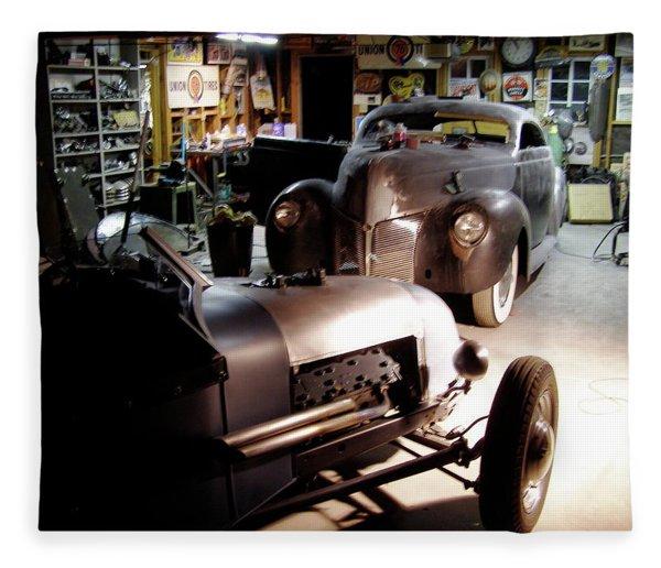 Garage Tour Fleece Blanket