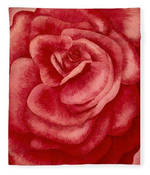 Garden Rose Fleece Blanket