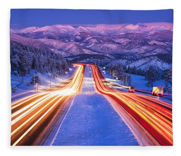 Gateway To The Rockies Fleece Blanket