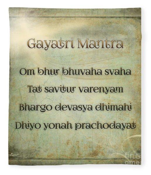 Gayatri Mantra Fleece Blanket