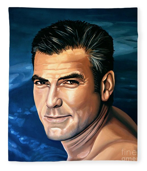 George Clooney 2 Fleece Blanket
