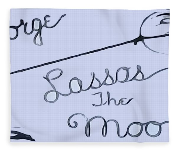 George Lassos The Moon Fleece Blanket