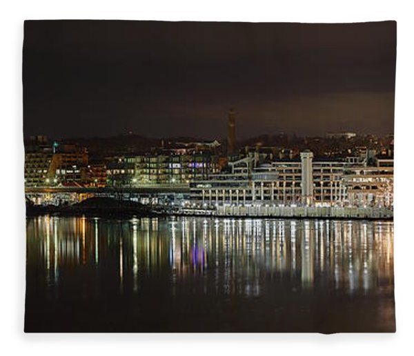 Georgetown Waterfront Fleece Blanket