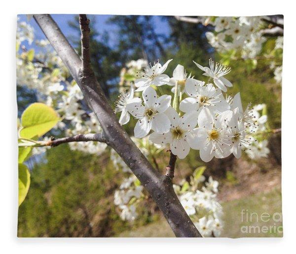 Georgia Blossoms Fleece Blanket