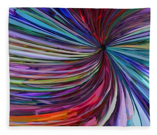 Fleece Blanket featuring the digital art Glass Wave by Matt Lindley