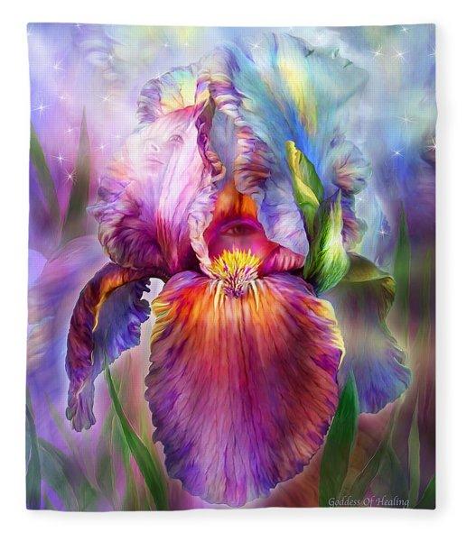 Goddess Of Healing Fleece Blanket