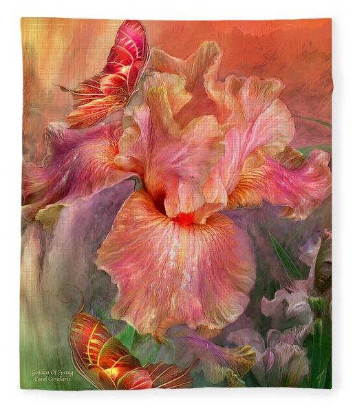 Goddess Of Spring Fleece Blanket