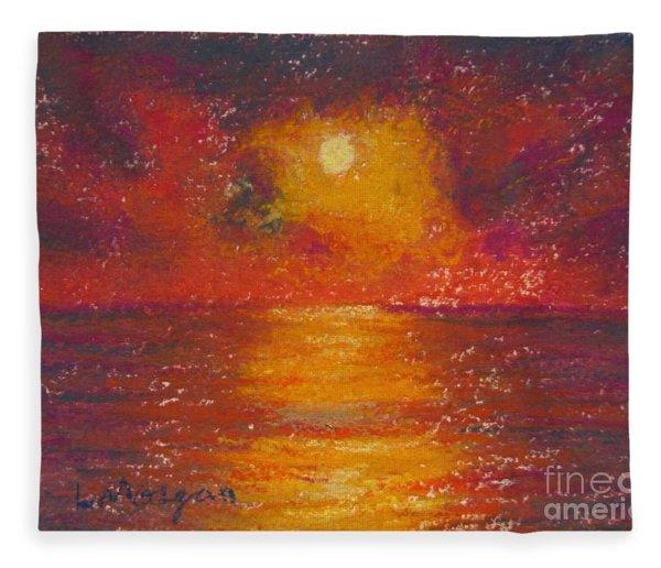 Island Sunset Fleece Blanket