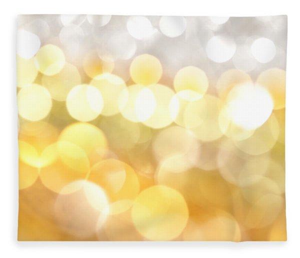 Gold On The Ceiling Fleece Blanket