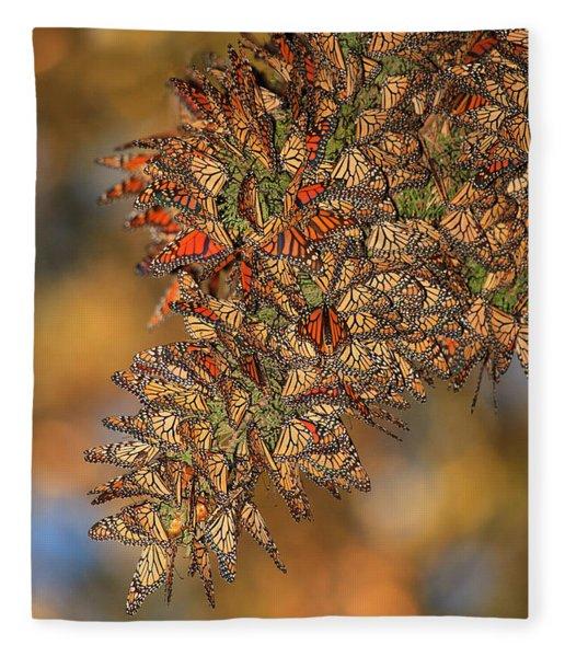 Golden Cluster Fleece Blanket