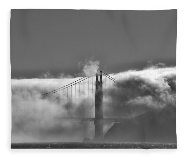 Golden Gate Fog Fleece Blanket