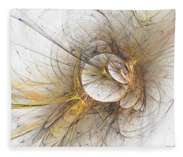 Fleece Blanket featuring the digital art Golden Memories by Sipo Liimatainen