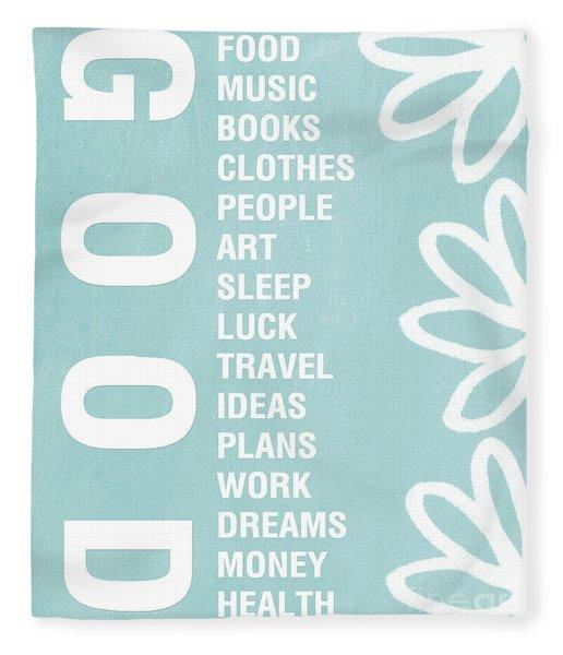 Good Things Blue Fleece Blanket