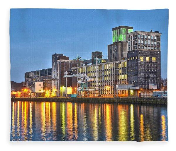Grain Silo Rotterdam Fleece Blanket