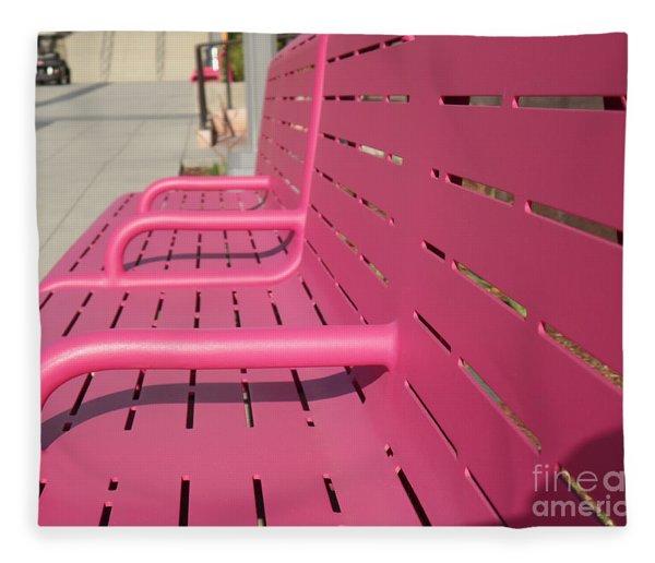Grand Park Pink Fleece Blanket