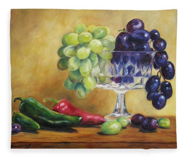 Grapes And Jalapenos Fleece Blanket