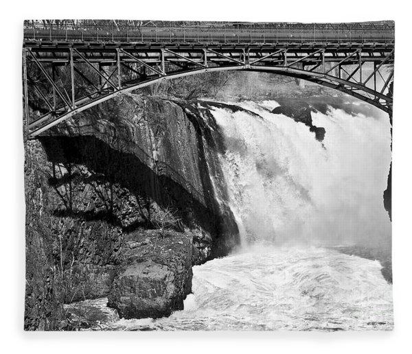 Great Falls In Paterson Nj Fleece Blanket