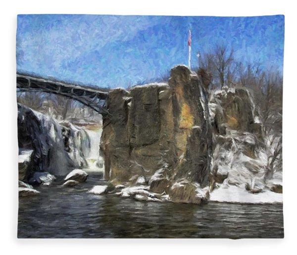 Great Falls Painted Fleece Blanket