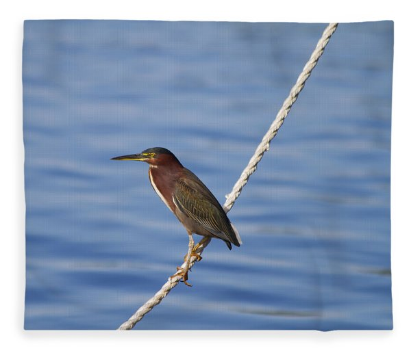 Green Back Heron Fleece Blanket