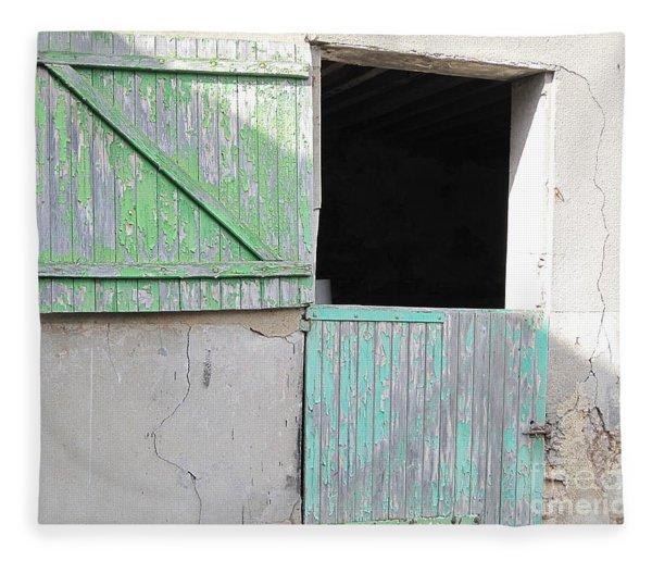 Green Stable Door Fleece Blanket