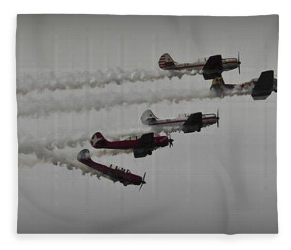 Greenwood Lake Airshow Northeast Raiders Fleece Blanket